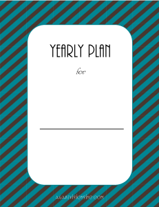 Yearly Plan Printable