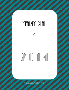 Yearly Plan Printable_Gregorian 2014