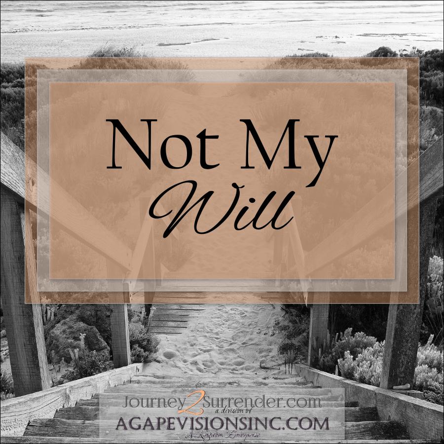 2013_08_05 Not My Will