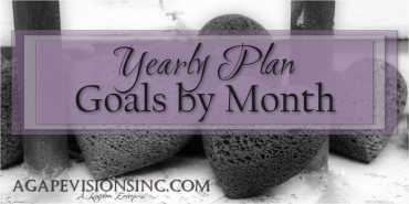 Yearly Plan – Goals by Month