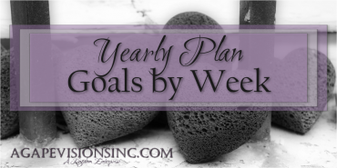 Yearly Plan – Goals by Week