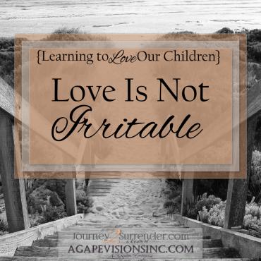 Love Is Not Irritable